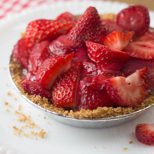 Strawberry icebox pie!